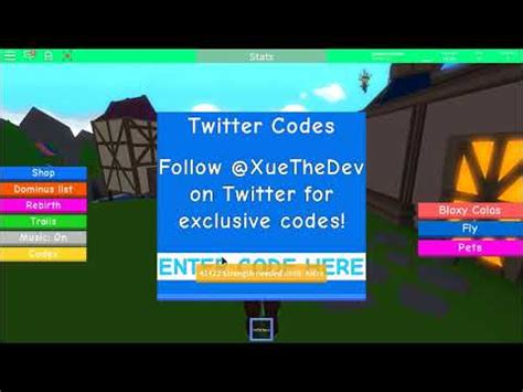 roblox dominus lifting simulator codes youtube