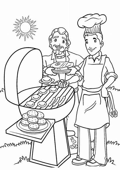 Coloring Summer Pages Printable Bbq Colouring Cookout