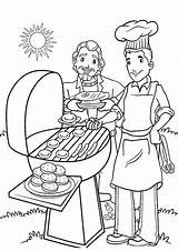 Coloring Summer Pages Printable Bestcoloringpagesforkids Cookout Articulo sketch template