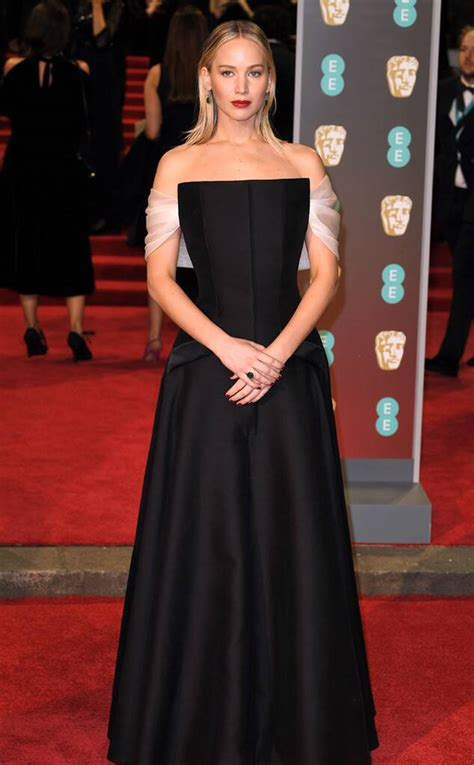 Jennifer Lawrence From 2018 Bafta Film Awards Red Carpet