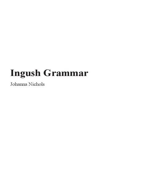 Johanna Nichols - Ingush Grammar (2011, University of