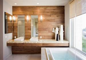 design interieur idee salle de bain tedances 2015 With revetement mural bois salle de bain