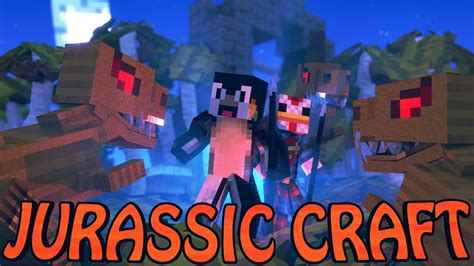 Minecraft Dinosaurs  Jurassic Craft Modded Survival Ep 1