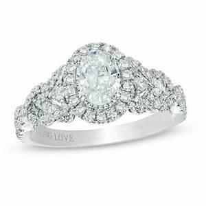 vera wang love collection 1 ct tw oval diamond frame With vera wang wedding rings love collection