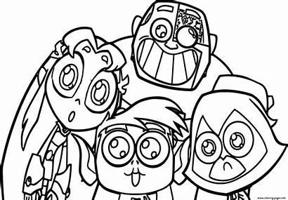 Titans Coloring Teen Cartoon Dc Comics Superhero