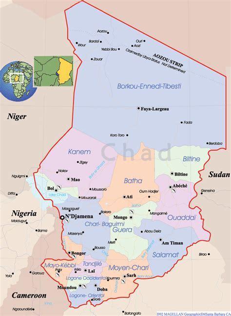 Chad Map  Africa  Sahara Desert