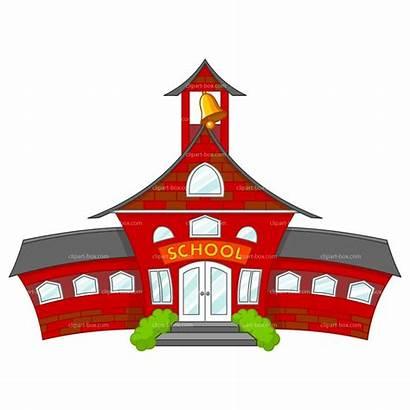 Clipart Cartoon Schools Building