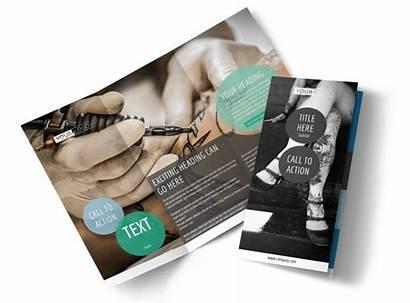 Tattoo Piercing Brochure Template Templates Business Fold
