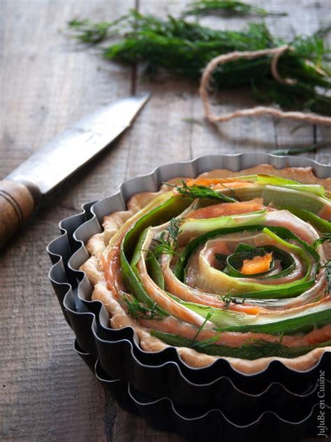 cuisine fut馥 saumon tarte légère tourbillon saumon fumé et poireau sans oeuf jujube en cuisine