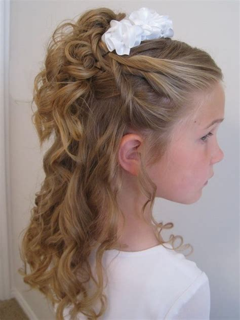 Pretty Kid Hairstyles by 25 Best Ideas About Communion Hairstyles On