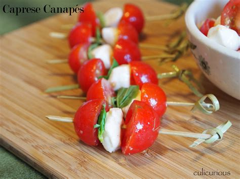 canapes recipes caprese canapé recipe culicurious