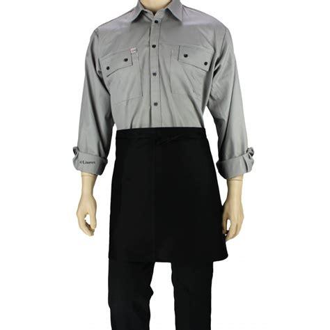 tablier cuisine noir tablier de cuisine à la taille noir avec une poche lisavet