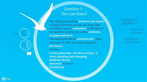 Feb 18, 2018 · aqa gcse english language paper 1 question 5 posted on february 18, 2018 by emma lee so, we've worked our way through the reading section of paper 1 on the 8700 specification, and now it's time to take a look at an overview and some tips for question 5. AQA GCSE English Language Paper 2 Question 5 (2017 onwards ...