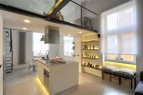 refurbished industrial loft apartment  rome