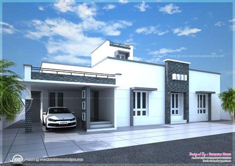 Contemporary Single Floor Home In 1350 Sqft  Kerala Home