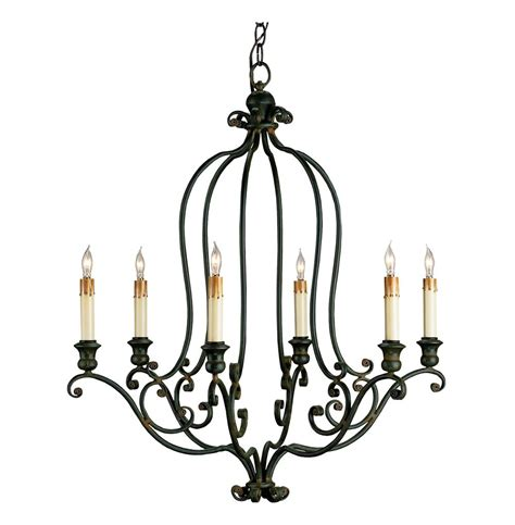hourglass black wrought iron 6 light chandelier kathy