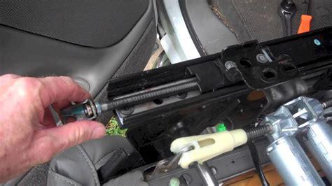 gm slidingloose seat repair youtube