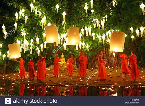 chiang mai thailand 14th november 2016 monks celebrate
