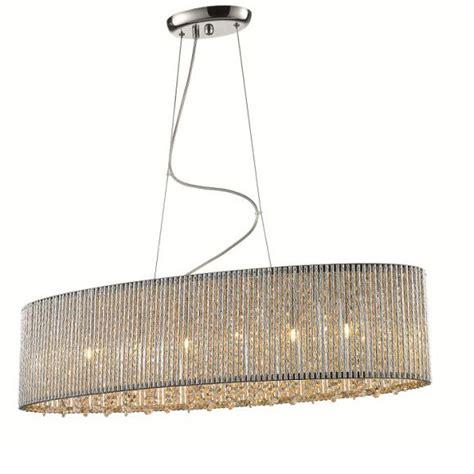 Esszimmer Le Oval by Elit 228 Re Ovale Pendelleuchte Mit Kristallen Wohnlicht