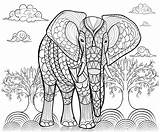 Elephant Coloring Adults Adult Elephants Giant Animals Mandala Pattern Printable Animal Elefant Bestcoloringpagesforkids Indischer Malvorlagen Drawn Ink Intricate Sheets Justcolor sketch template