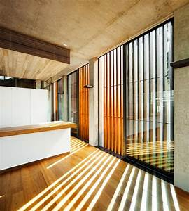 Exterior vertical wooden louvers