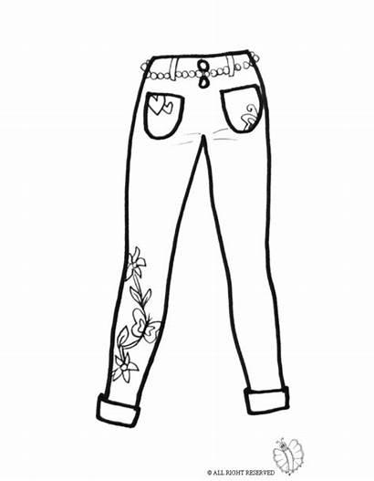 Pants Colorare Da Pages Disegno Coloring Donna