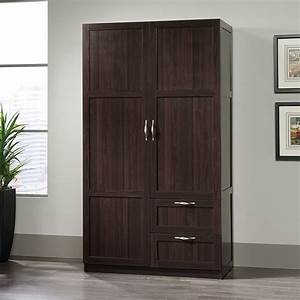 Storage, Cabinets, With, Drawers, Doors, Wardrobe, Closet, Wood, Clothing, Armoire, Cherry