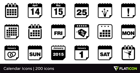 Calendar Icons 200 Free Icons (svg, Eps, Psd, Png Files