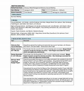 22 minutes templates word excel pdf free premium for Taking minutes in a meeting template