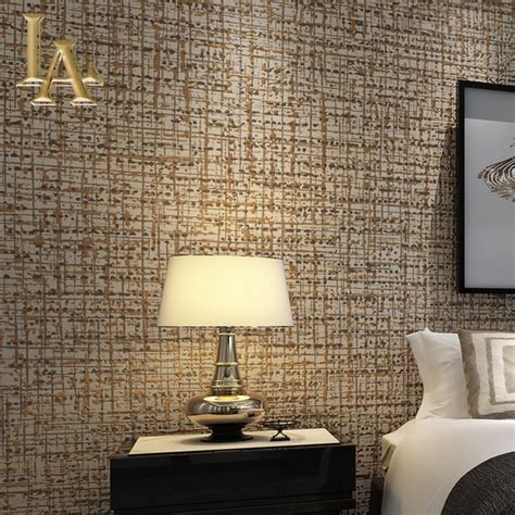 modern solid color flocking textured wallpaper light grey