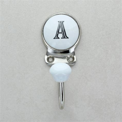 ceramic alphabet or number letter wall coat rack hook by g ceramic alphabet or number letter wall rack coat hooks by 77553