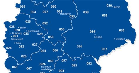 Telefonvorwahlkarte Von Deutschland
