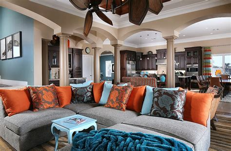 Orange Grey And Turquoise Living Room by Summer Color Combinations Ideas Trends
