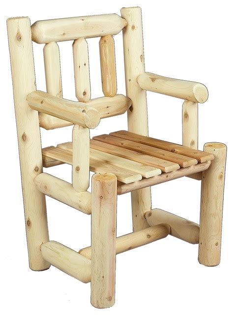 cedar log captain s chair rustic outdoor lounge chairs