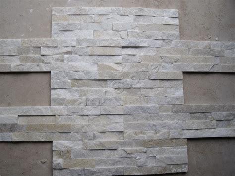 white stacked veneer beige white quartzite natural stone install golden white quartzite wall cladding stone veneer