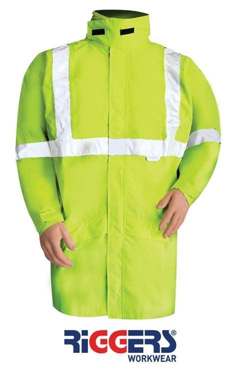 waterproof storm jacket  reflective tape neca safety