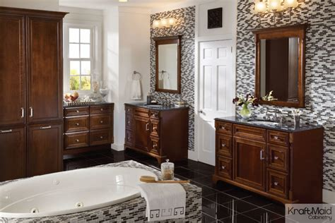 Kraftmaid Modern Bathroom Vanities by Kraftmaid Cherry Door In Autumn Blush With Onyx
