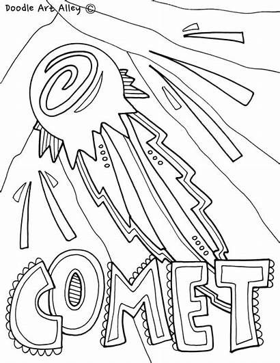 Coloring Solar System Comet Printable Classroom Colouring