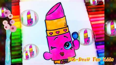 draw color  cute shopkins lippy lips  step