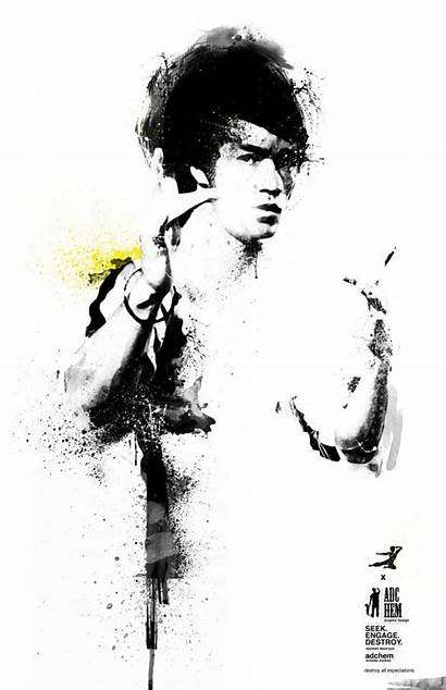 Bruce Lee Brandon Martial Tattoo Chinese Marciales