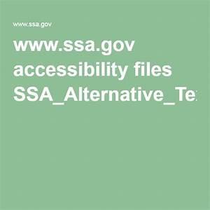 Ssa Gov Accessibility Files Ssa Alternative Text Guide