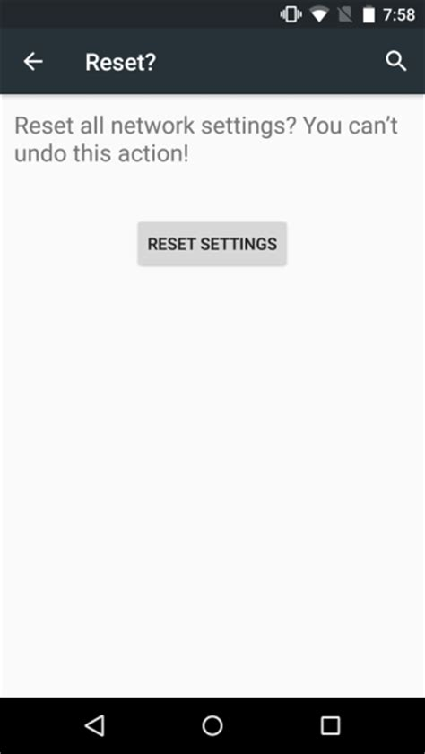 reset network settings android how to reset network settings in android m