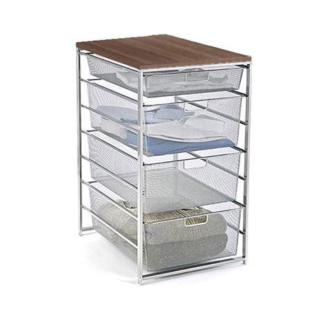 platinum elfa mesh closet drawers the container store