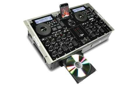 numark icdmix3 dual mp3 cd player mixer combo long