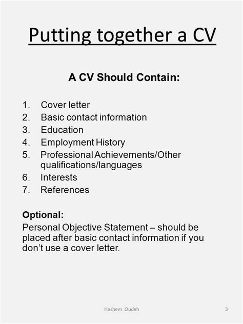 what do you put in a cv resume template cover letter