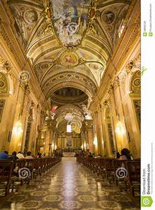 Ceiling Of The Cathedral Of Cordoba, Argentina Stock Photo ...