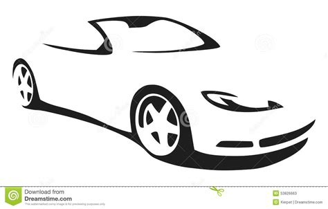 Vector Silhouette Sports Car Stock Vector