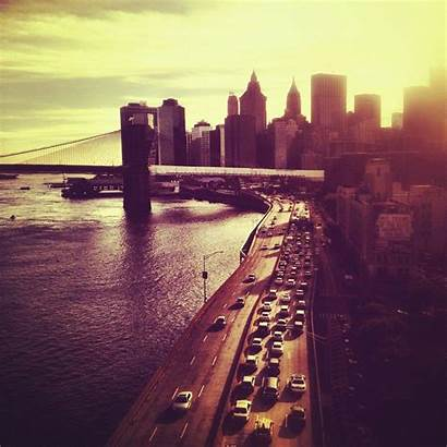 York Instagram Sunset Brooklyn Bridge Wallpapers Skyline