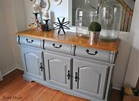 dining room buffet Rustic Maple: Painted Buffet In Country Chic Paint's Cobblestone