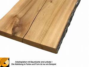 Tischplatte Massivholz Baumkante : brett mit baumkante massivholz tischplatte ~ Indierocktalk.com Haus und Dekorationen